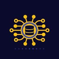 data mining vector flat icon