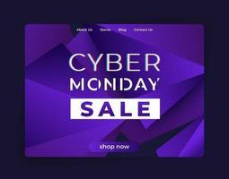 Venta de Cyber Monday, banner de vector para sitio web