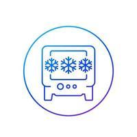 industrial fridge or freezer line icon vector