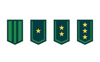 Military ranks or army epaulettes on white vector