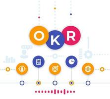 OKR vector illustration, Objectives and key results