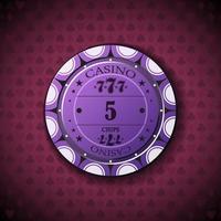 Poker chip new 0005 vector