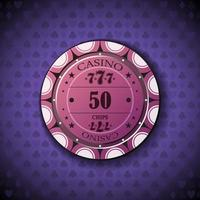 Poker chip new 0050 vector