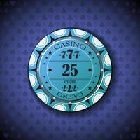 Poker chip new 0025 vector