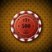 Poker chip new 0500 vector