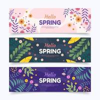 Hello Spring Banner Collection vector