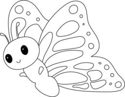 Kids Coloring Page Butterfly - Great for Beginner Coloring Book vector