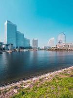 Beautiful Yokohama skyline in Japan photo