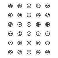 Arrow Icon set Line Vector