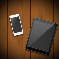 celular con tableta vector