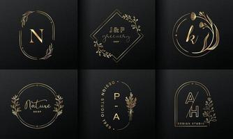 Luxury logo design collection for branding, coporate identity Free Vector
