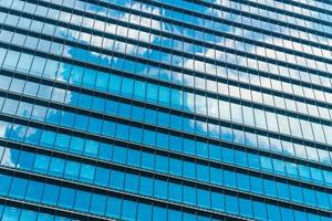 Office building with window pattern photo