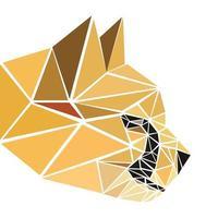 Cheetah head pixel vector