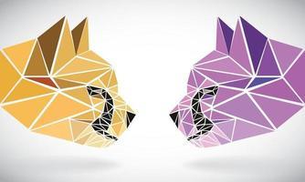 Cheetah head pixel 1 vector