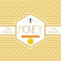 etiqueta de miel v1 vector