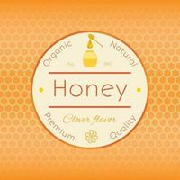 Honey label v1 vector
