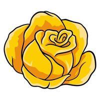 Hand-drawn roses. Beautiful flower. Cartoon style. Vector illustration.