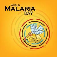 ilustración vectorial de un fondo para el día mundial del paludismo. vector