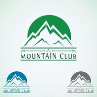 Mountain logo Mountain club vector