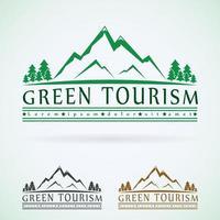 Mountain logo Green tourism vector
