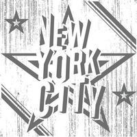 Negativo de Nueva York en estrella grunge blanco vector