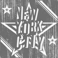 New York Negativo en Darck Grey vector