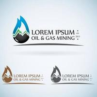 Resources logo OIL gas mining company vector