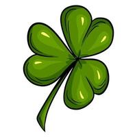 Three-leaf clover. Good luck clover - st patrick's day Cartoon style. vector