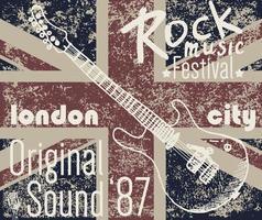 T-shirt london rock v1 vector