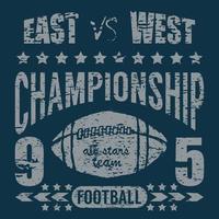football east west dark blue vector