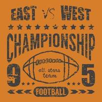 football east west orange vector