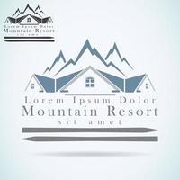 mountain resort logo vector