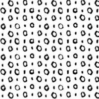 Hand drawn black brush circles and dots seamless pattern, vector illustration