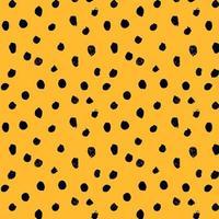 Hand drawn dots, seamless pattern, cheetah skin texture, vector illustration