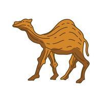 camello ilustración animal diseño vector