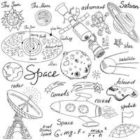 space sketch isolated vector