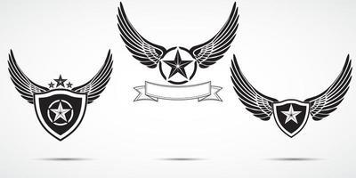 wings labels v2 vector