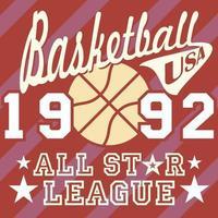 Basketball allstar red vector