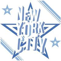 New York negative on darck grey vector