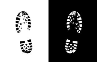 Shoe Print Vector Sign