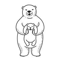 vector de ilustración de oso polar oso polar blanco