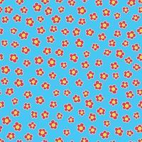flor, margarita, seamless, patrón, vector, rojo vector