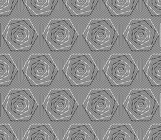 illusion stripe Seamless Pattern black white vector