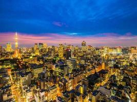 vista aérea, de, tokio, en, japón foto