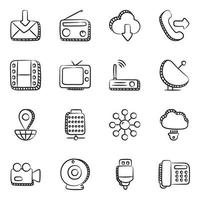 elementos de tecnología y dispositivos. vector