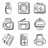 hardware, dispositivos y gadgets de computadora vector