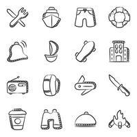 viajes y accesorios vector