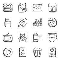 dispositivos e instrumentos musicales vector