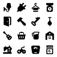 muebles y electrodomésticos de lujo moderno vector
