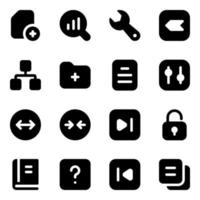 elementos modernos de diseño de interfaz de usuario vector
